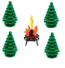 LEGO Trees 4 x Small Green Pine Christmas with Fire NEW Forest Plants