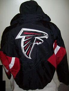 ATLANTA FALCONS Starter Hooded Half Zip Pullover Jacket S M L XL 2X BLACK