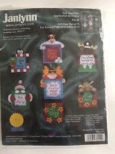 Janlynn Chrismas Joy Snow Screen Printed Acrylic Felt Flats Stitch Kit 36-44 NIP