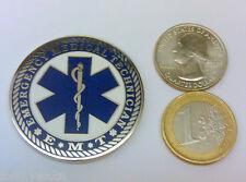 ☆☆ EMT geocoin Emergency Medical Technician unactivated Silver