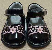 NWT Target Baby Girls Black Patent Leather Mary Janes Shoes Size 3 4 5 6 7