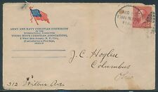 #252 ON ARMY & NAVY CHRISTIAN COM. YMCA COVER SPANISH-AM PATRIOTIC COVER BR4561