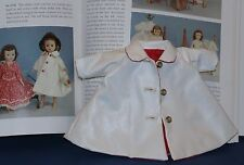 RARE Cissette #0730 Tagged White Vinyl Coat with Solid RED Lining Mint/Unused!