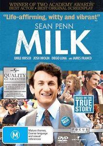 Milk (DVD, 2009) Sean Penn TRUE STORY DRAMA