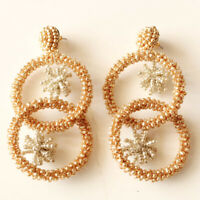 New Baublebar Beads Loop Drop Statement Earrings Gift Fashion Lady Party Jewelry