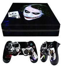 PS4 Slim Skin Joker 01 Why So Serious Batman Villain + Pad Decals Vinyl Laid