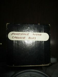 S Guage:  Porthole Wood Caboose Body Kit in wrong box