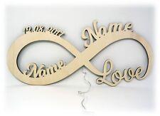 Geschenke zur Hochzeit mit Datum & Namen - LED Deko Lampe Hochzeitsgeschenke