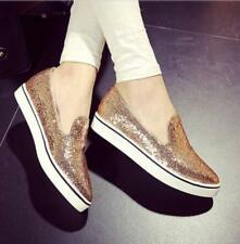 Women Sexy Pointed Toe Sequins Loafers Athletic Fashion Flat Heel Shoes Slip on