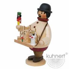 Räuchermann Spielzeughändler 17cm  Kuhnert RÄUCHERFIGUR Erzgebirge Holzkunst