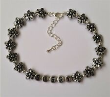 Jewellery Mens Caged Owned Cd / Tv Sissy Handmade Beaded Anklet / Ankle Bracelet