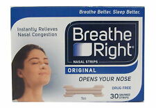 Breathe RIGHT Nasal Strisce 30 Piccolo/Medio TAN PER NORM