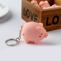 Funny LED Pig Shape Key Chain with Sound Key Ring Mini Flashlight Torch Kids Toy