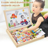 Educational Magnetic Box with Jigsaw Board Wooden Puzzle Toy for kids Gift