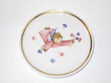 "Collectible Berta Hummel Museum 4"" Miniature plate 1978 Flying Angel Flowers"