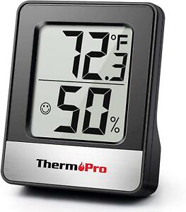 Digital Room Thermometer Indoor Hygrometer Monitor Temperature & Humidity Meter