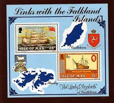 ISLE OF MAN MNH 1984 MS264 LINKS WITH THE FALKLANDS