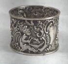 Large Cherub Birmingham 1900 English Sterling Napkin Ring