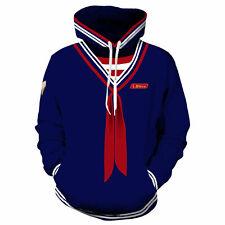 Cosplay Stranger Things Pullover Hoodie Sweatshirt Costume Steve Scoops Ahoy