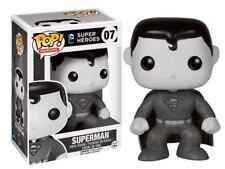 Superman Black White Exclusive DC Comics POP! Heroes #07 Vinyl Figur Funko
