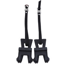 Black Cycling Bicycle Bike Foot Pedal Straps Fixed Anti-slip Toe Fixed Cage SK