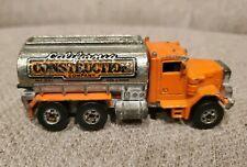 1979 Hot Wheels Peterbilt Tanker Truck California Construction