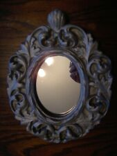 Oval Decorative mirror in plaster frame