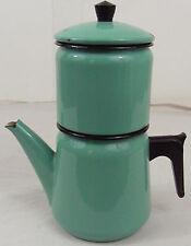 cafetiere emaillée 1960 vintage  -Coffee maker enamel