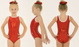Red Size 24 Gymnastics Leotard Age 3-4 New With Tags