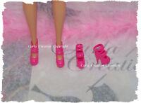 Fashion Chaussure Plate Forme Barbie Poupée Mannequin Dress Rose