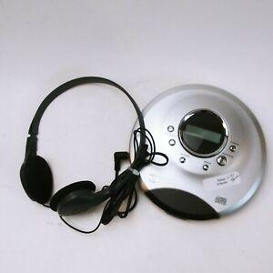 Vintage Durabrand CD-565 Portable Cd Player Silver AA Powered W/ Headphones