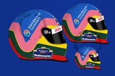 Jacques Villeneuve F1 Williams FW19 1997 Helmet Sticker - Scuderia GP
