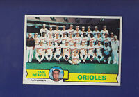 Baltimore Orioles Checklist 1979 TOPPS Baseball #689 (NM)