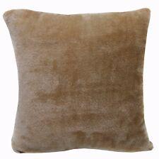 Fg27a Plain Khaki Soft Faux Fur Cushion Cover/Pillow Case*Custom Size*