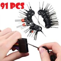 91PCS Car Terminal Removal Tool Wire Connector Plug Extractor Puller Release Pin