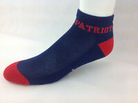 New England Patriots For Bare Feet Money Ankle Socks Blue