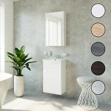 Planetmöbel Badmöbel Set 45cm Gäste WC Bad Waschbecken Unterschrank Spiegel
