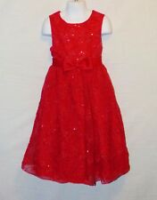 Sz 6 Rare Editions Girls Dress Wedding Church Holiday Christmas Party Flower