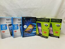 lot of 5 cell phones, straight talk, net 10, at&t