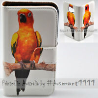 For Samsung Galaxy Note Series Parrot Theme Print Wallet Mobile Phone Case Cover