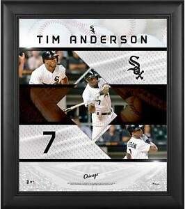 """Tim Anderson Chicago White Sox Framed 15"""" x 17"""" Stitched Stars Collage"""