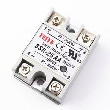 10pcs SSR-25AA 25A Solid State Relay Module 80-250V AC Input 24-380VAC