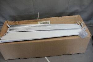 """Lot of 20 Rubbermaid 16"""" Support Bracket for Wire Shelving Metal White"""