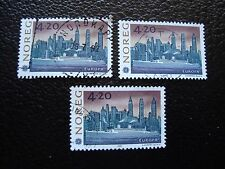 NORVEGE - timbre yvert et tellier n° 1054 x3 obl (A04) stamp norway (E)