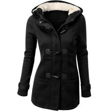 UK Womens Autumn Winter Hooded Coat Jacket Top Outwear Warm Sweatshirt Overcoat