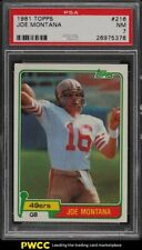 1981 Topps Football Joe Montana ROOKIE RC #216 PSA 7 NRMT