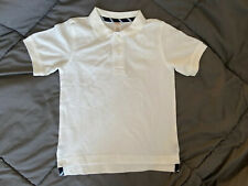 GYMBOREE Boys Uniform White Polo School Shirt Stain Release Finish Size 4 NEW