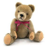 Hermann Teddy Bear Mohair Plush 26cm 10in 1950s Jointed Squeaker Charming Vtg
