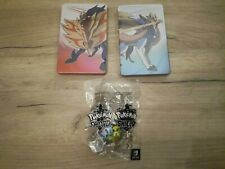 Pokemon lot of Sword and Shield Steelbooks & figurines, No Game Included, NEW