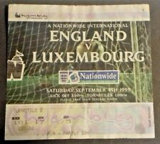 More details for england v luxembourg international match ticket sept.4th 1999 wembley stadium.